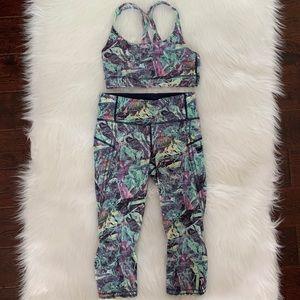 Set ~ Lululemon Energy Bra & Crop Leggings Size 4
